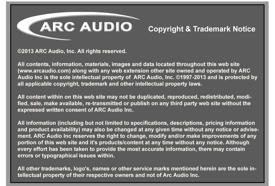 Contacts of Arc Audio